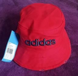 Chapéu bucket Adidas vermelho