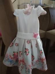 Vestido de Festa Infantil com sapatinho  - (Super Promoção!!)  - Tamanho 2