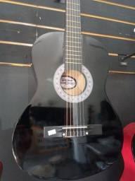 Violão novo acústico nylon cor Preta Waldman na Plugmusic Petrolândia Contagem