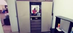 Guarda roupas porta de correr espelho mais 4 gavetas
