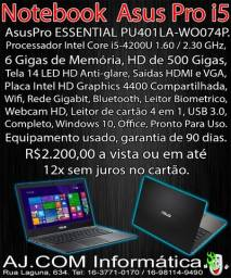 Notebook Asus Pro,Top, Core i5, Fininho!