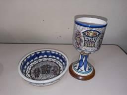 Conjunto Cálice e Cibório em Porcelana (Usado)