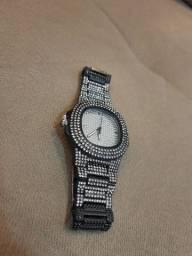 Relógio Cravejado Ice ( Preto)