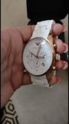 Relógio Armani Dourado e Branco