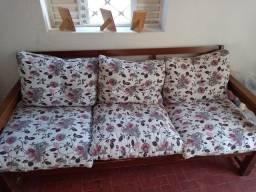 Sofa 5 lugares madeira maciça