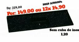 Pedra de Pia 1,20 S/Cuba de Inox - Embalado - Entrega Gratis