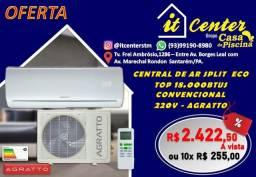 Central de ar 18000 btus Eco Convencional Agratto