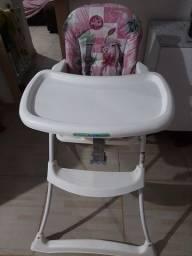 Cadeira de alimentação rosa