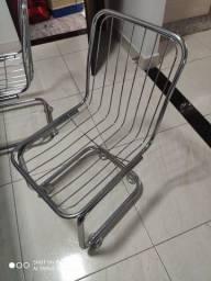 Mesa c/6 cadeiras cromada,