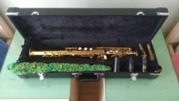 Sax Soprano Reto Eagle Super leve de tocar, excelente instrumento SP502