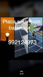 Placa solar e manutenção