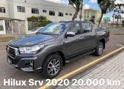 Toyota Hilux Srv 4x4 Diesel 2020 com 20.000 km único dono