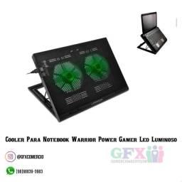 Título do anúncio: COOLER PARA NOTEBOOK WARRIOR POWER GAMER LED LUMINOSO