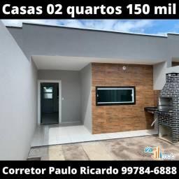Casa com 02 quartos pronta para morar 150 mil