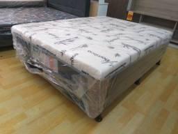 Cama Box Casal, Conjugado ,10 cm de espuma D28, Novo