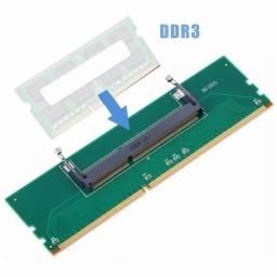 Título do anúncio: Adaptador Memoria Ram DDR3 de Notebook para DDR3 de Desktop Pc de Mesa, até 12x no cartão