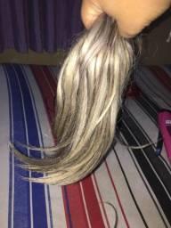 cabelo 45 cm loiro mesclado