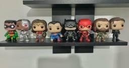 Kit Coleção Funko Pop DC Liga da Justiça