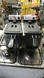 Fritadeira eletrica duas cubas