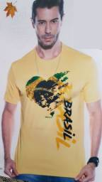 Camiseta Masculina 'Brasil' Tam. P e M