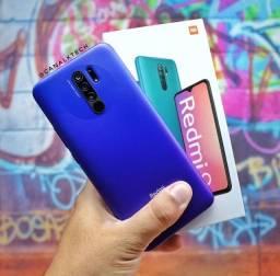 Caixa Lacrada - Xiaomi Redmi 9 - 64GB Rom ou 32GB Rom - Versão Global + Capinha e Película