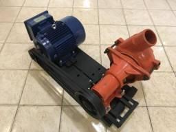 Kit Conjunto motor indução 7,5cv + Bomba draga 4 pol Dambroz + Base