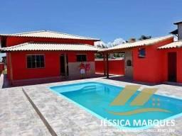 JC-037-2  Casa com piscina e área gourmet em  Cabo Frio-Unamar