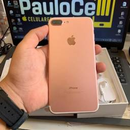 iPhone 7 Plus 32GB Rose completo seminovo com Garantia 12x sem juros