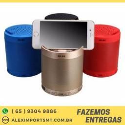 caixinha de som com suporte para celular bluethoot microfone interno