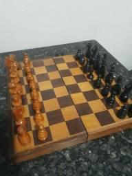 Tabuleiro xadrez de madeira