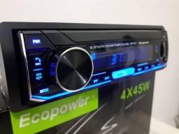 Som rádio de carro bluetooth usb atende ligação cartão de memória aux