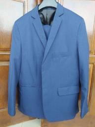 Terno (palitó + calça) azul ( ótimo para padrinho)