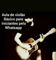 Aula de violão pelo Whatsapp
