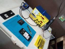 Estação de solda e retrabalho com voltimetro