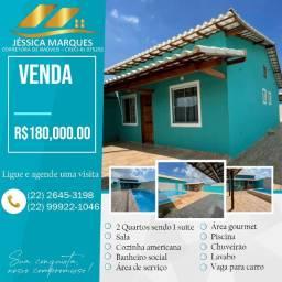 Linda casa de 2 quartos com área gourmet e piscina em Unamar, Tamoios - Cabo Frio - RJ