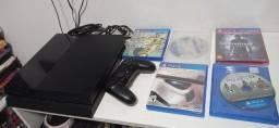 PS4 impecavel com 5 jogos