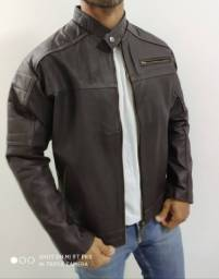 Jaqueta em couro 100% original (NOVA)