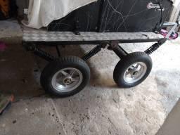 Carretinha para moto ou carrinho de carga