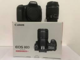 Câmera Cânon 80D com Lente do Kit