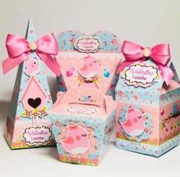 Caixinhas personalizadas para cha de bebe e festas