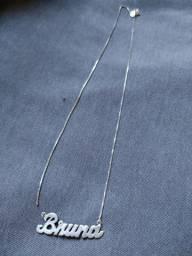 Vendo corrente com nome em prata 950