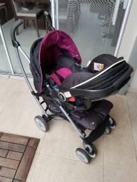 Abaixou! Kit carrinho + bebê conforto Graco Mosaic importado comprar usado  São Carlos