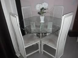 Mesa em marmore travertino