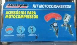 Pistolas para pintura e Kit Moto Compressor