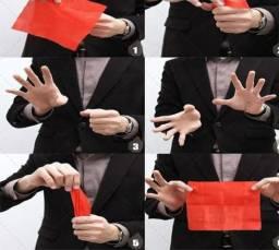 Mágica dedo falso+lenço vermelho