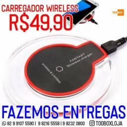Carregador para Iphone Sem Fio Charger Wirelless + Receptor Qi