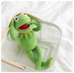 Caco O Sapo Kermit Pelúcia Muppet Babies Vintage Retrô
