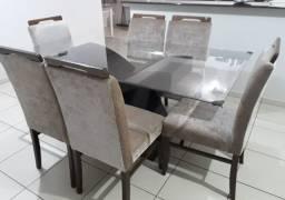 Mesa de vidro + 6 cadeiras - Em perfeito estado!!