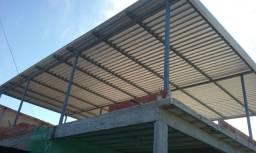 Telhado metálico residencial