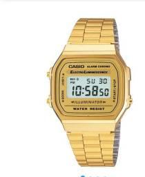 Vendo relógio Casio dourado